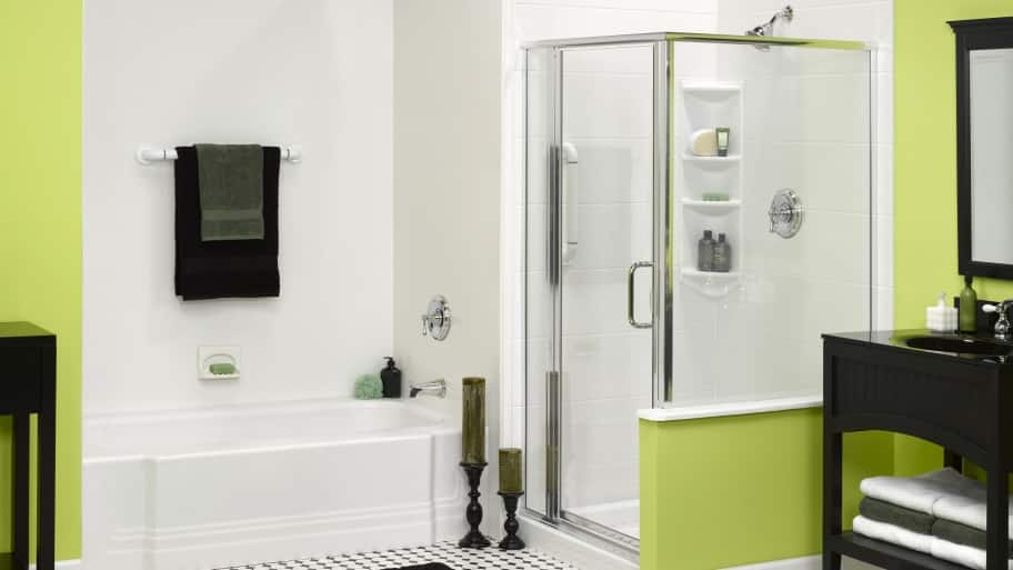 all in one tub and shower surround. acrylic shower walls 5 Questions for Choosing an Acrylic Bathtub Surround  Angie s List