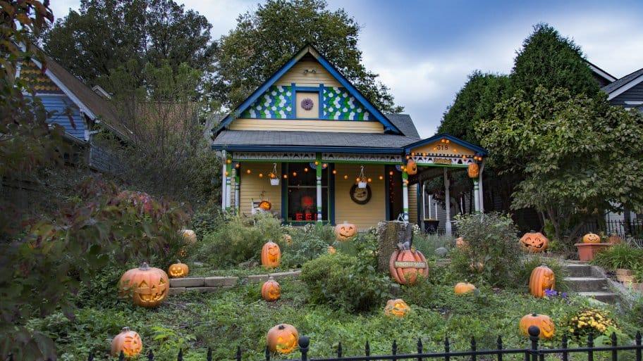 Jack O Lantern Halloween House