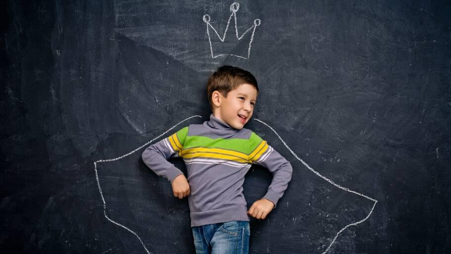 chalkboard paint in a kids room
