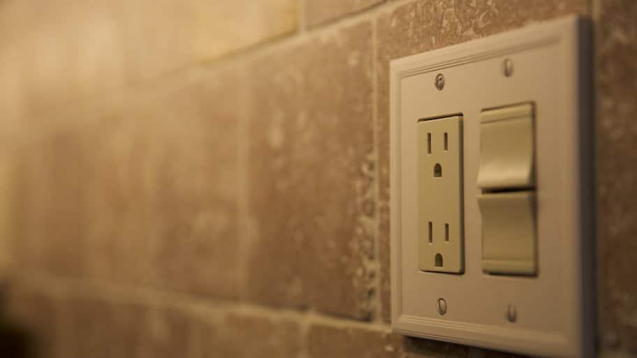 Kitchen Outlet On Tile Backsplash
