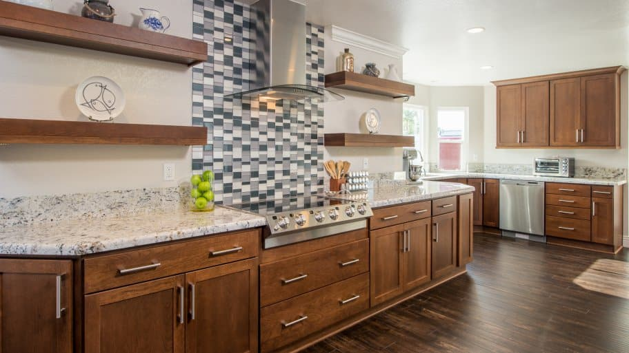 ordinary How To Finance A Kitchen Remodel #1: Luxe kitchen remodel upgrade update wood cabinets marble counters tile  design