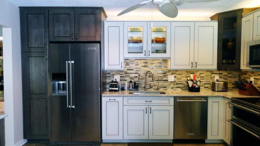 dark and white kitchen cabinets