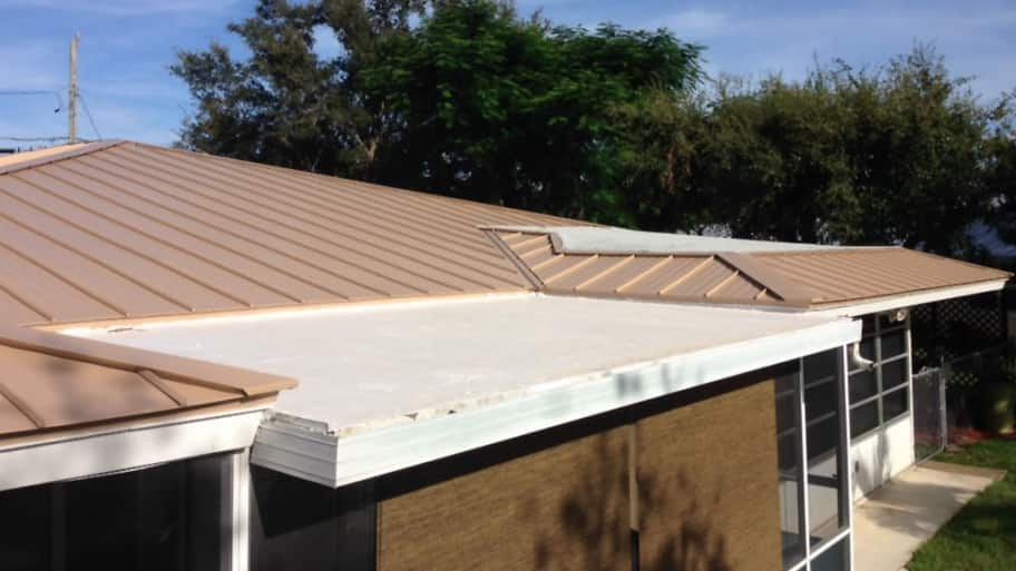 Wonderful Flat Roof On Home