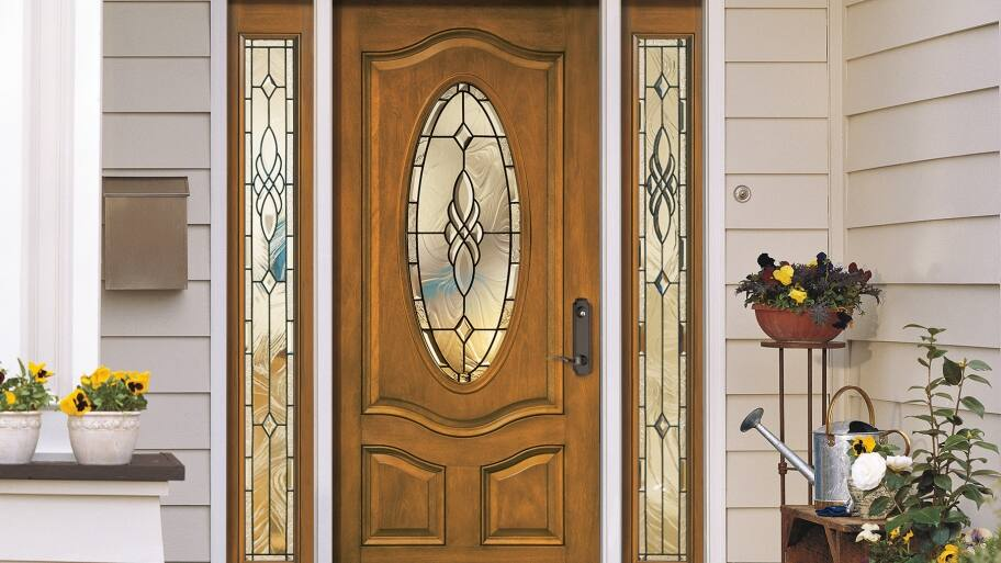 Merveilleux Pella Front Door With Sidelights And Transom