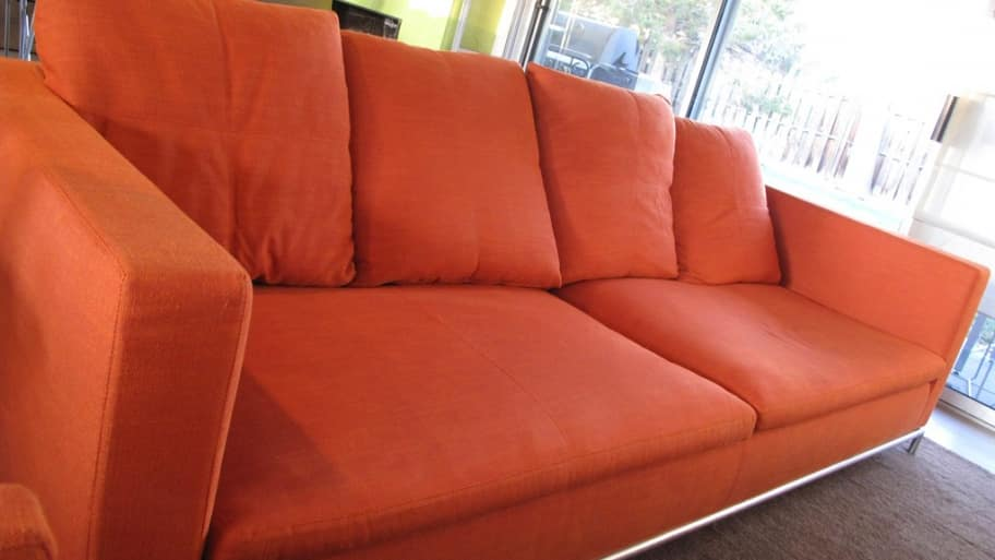 A Professional Cleaning Left This Bright Colored Sofa Looking Like New.  (Photo Courtesy Of Angieu0027s List Member Ruth H. Of Denver, Colo.)