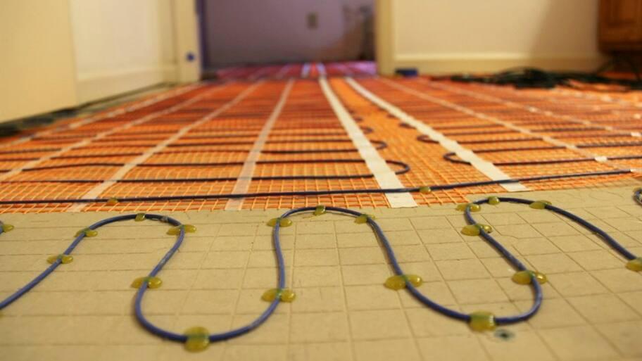 Delightful Radiant Heating Coil System Installation In Bathroom Floor
