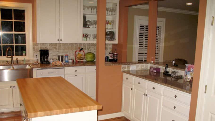 Butcher Block Countertop In Kitchen