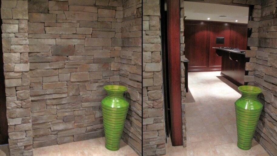 Stone Wall With Hidden Door