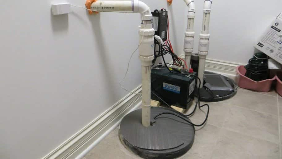 Sump pump in basement