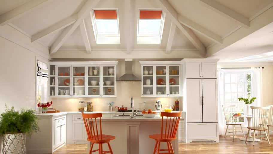 Superbe Is Solar Tube And Skylight Repair Worth The Cost? Skylights Above Kitchen  Countertop