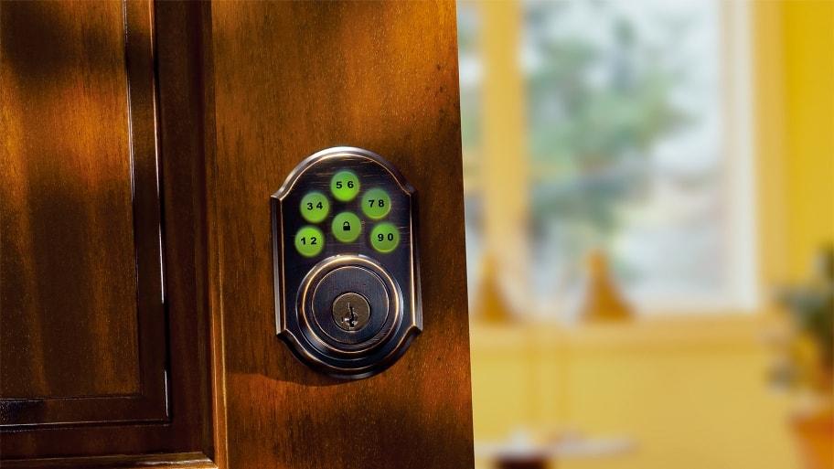 keyless entry door security on front door & 4 Common Types of Door Locks | Angie\u0027s List