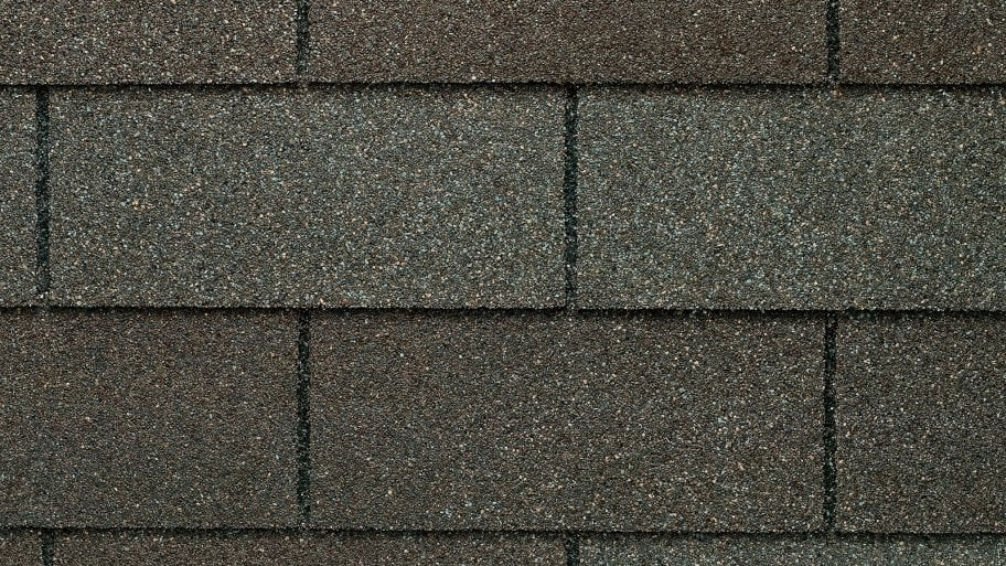 weathered gray asphalt shingles