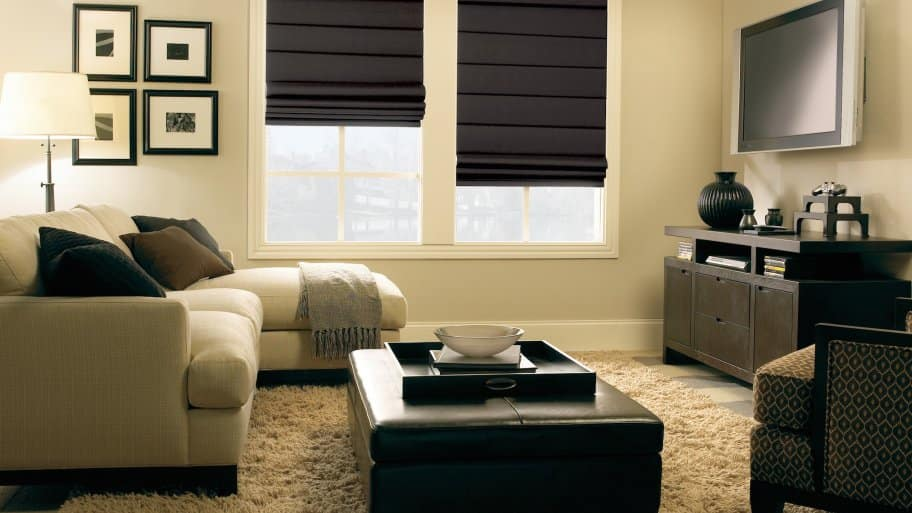 room blackout curtains brown roman shades window treatments how to find blackout curtains that work angies list