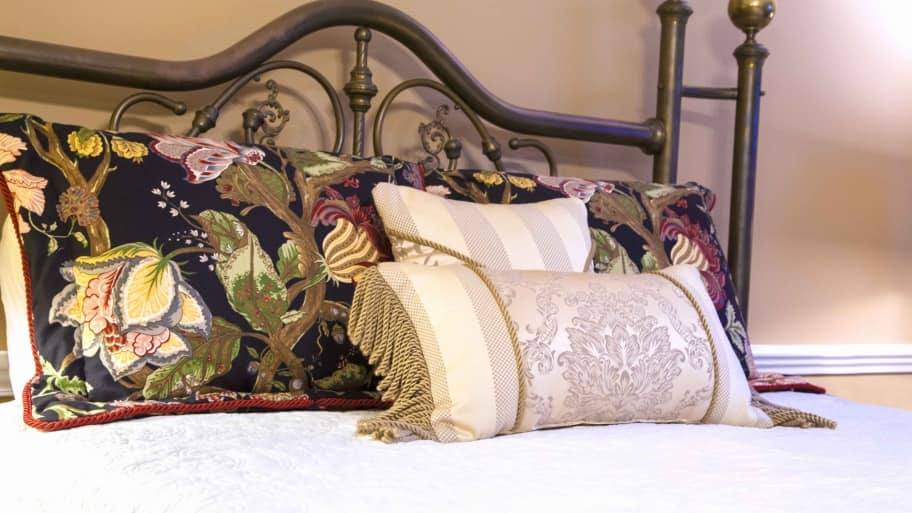 bed with pillows. Indianapolis Company Makes Custom Mattresses to Fit Antique Beds