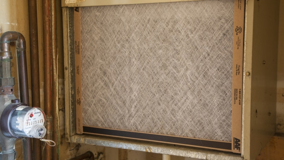a clean furnace filter for HVAC system