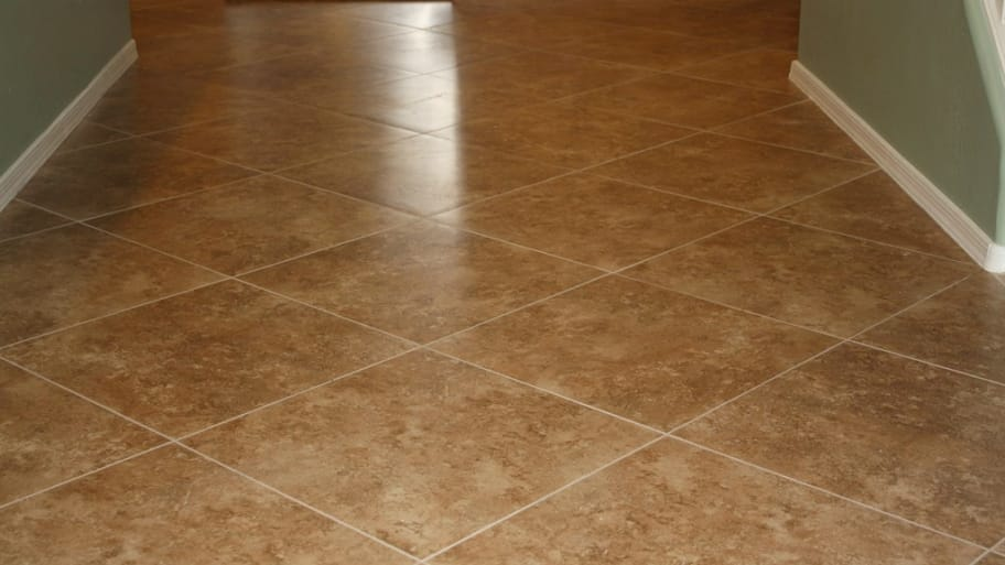 Grout Tile Floor cleaning and grout colouring of a limestone tiled floor in hove east sussex east sussex tile doctor Freshly Tiled Floor With Clean Grout