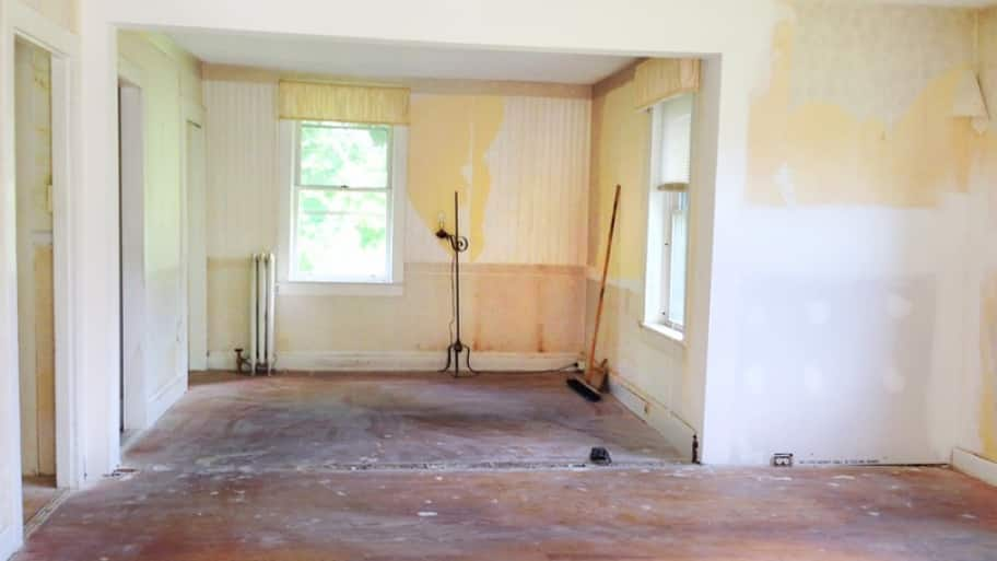 How Much Does It Cost To Remove A Wall? Interior Remodeling Project, In  Progress.