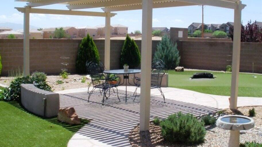 Pergola on a patio