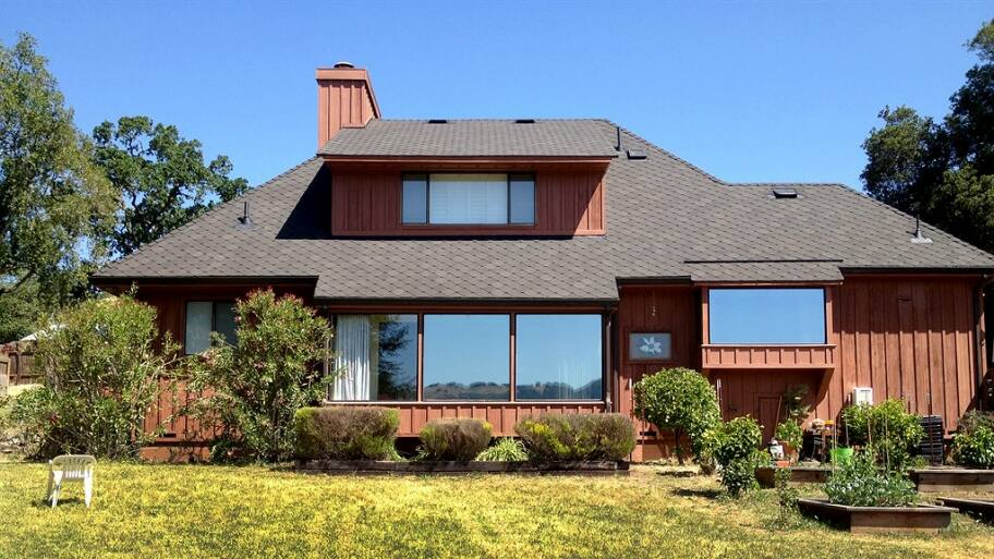 asphalt shingle roofing on home