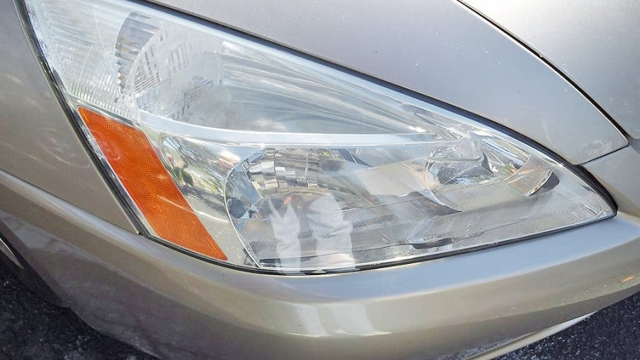 Restoring headlights, which become hazy over time from the sun's ultraviolet rays, can improve a vehicle's appearance. (Photo courtesy of Sylvia Raymond, ...