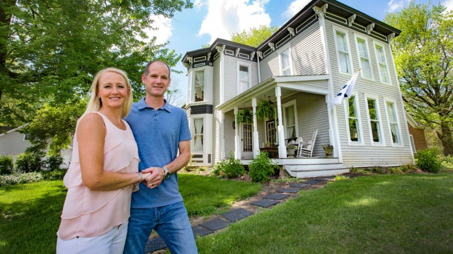 Paul and Emily Ehrgott and the 1886 McShane House in Carmel, Indiana