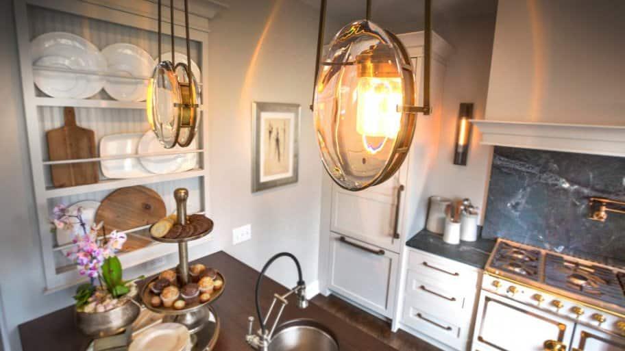 Alison Berger kitchen lights at 2017 Decorators' Show House