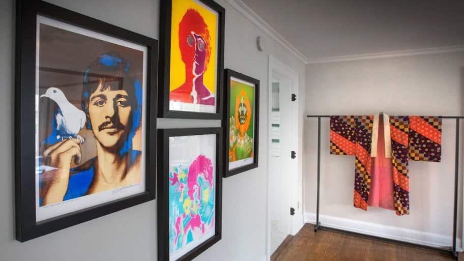 1967 Beatles prints in 2017 Decorators' Show House bedroom