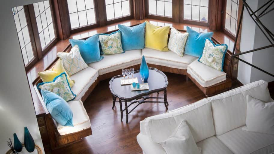 Ethan Allen living room at 2017 Decorators' Show House