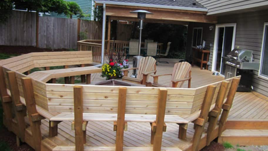 Be sure to hire a knowledgeable contractor that has an intent to build your deck to meet or exceed the current local building codes, says Lewis. (Photo courtesy of Home Enhancements)