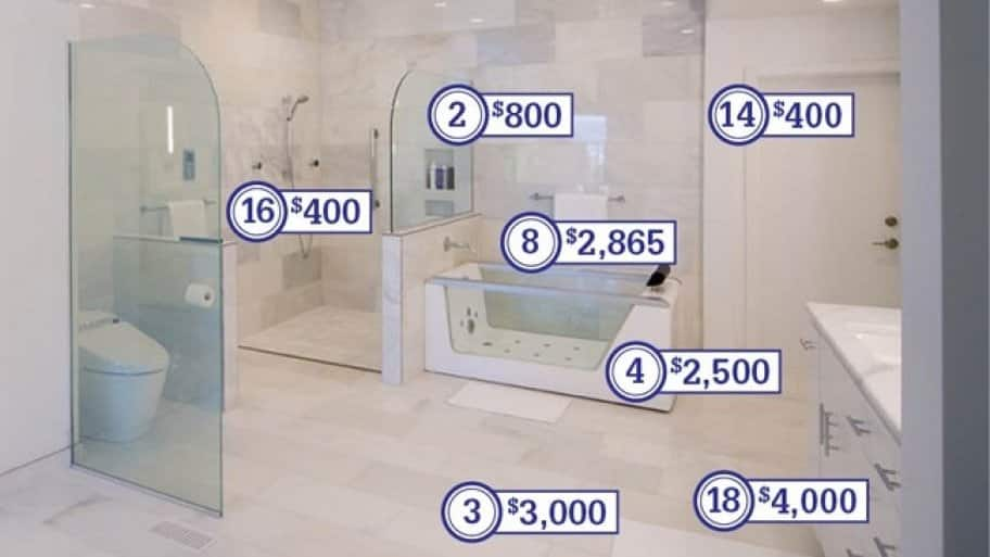 How much does a master bathroom remodel cost angie 39 s list for What s the average price to remodel a bathroom