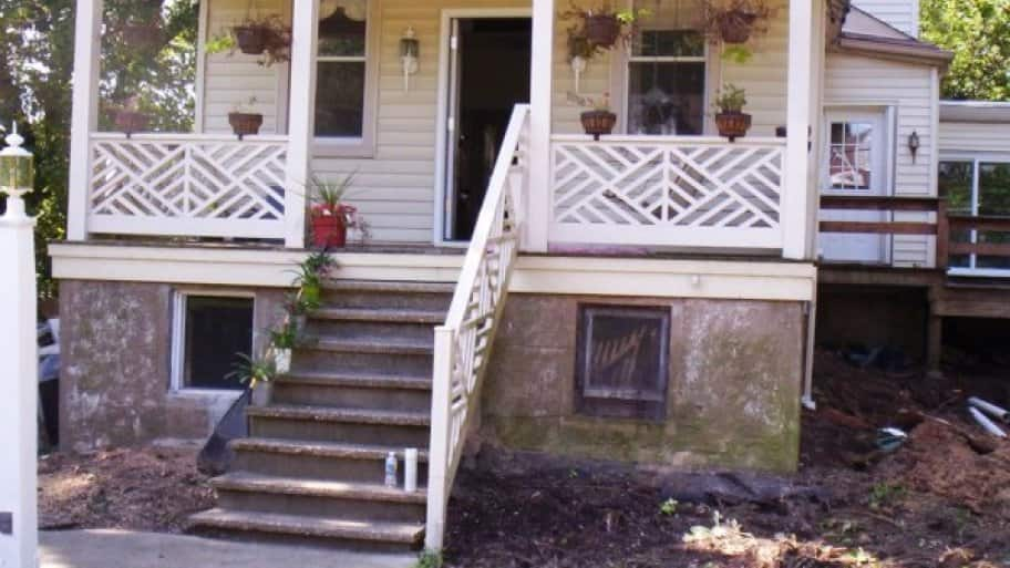 """My existing concrete porch and sidewalk was cracking and uneven."" (Photo courtesy of Angie's List member Michelle Lewis of Baltimore)"