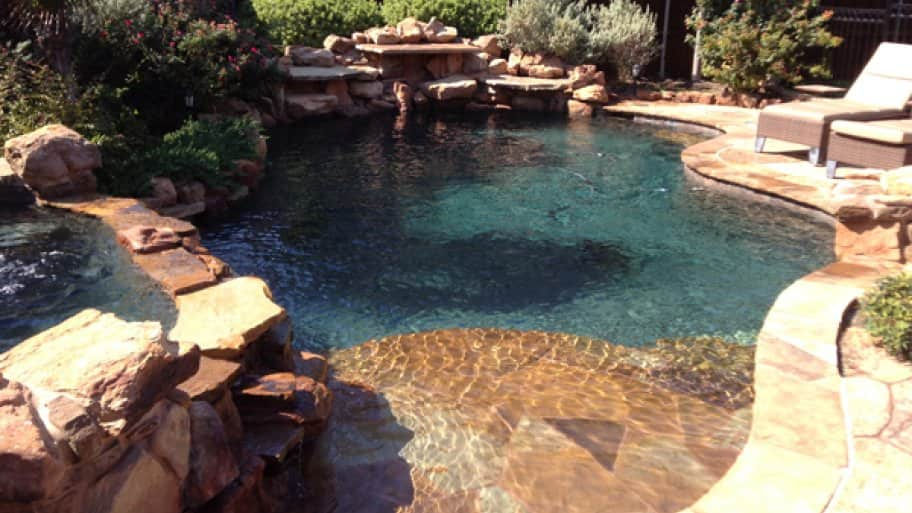 Customers without regular service during the colder months often don't realize they have issues until swimming season begins, says Coleman. (Photo courtesy of AquaSense Pools)
