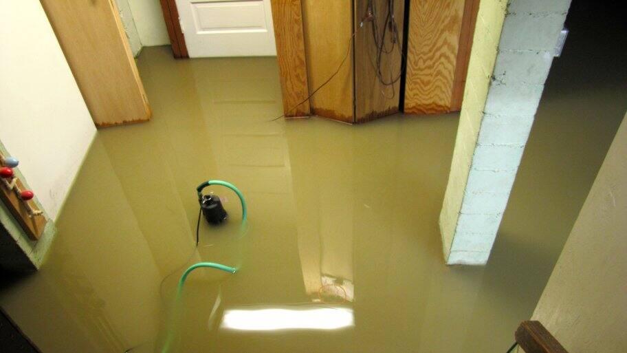waterproof flooded basement
