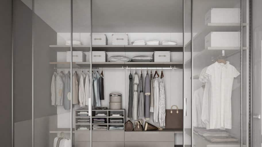 custom closet frosted glass closet storage closets design ideas - Custom Closet Design Ideas