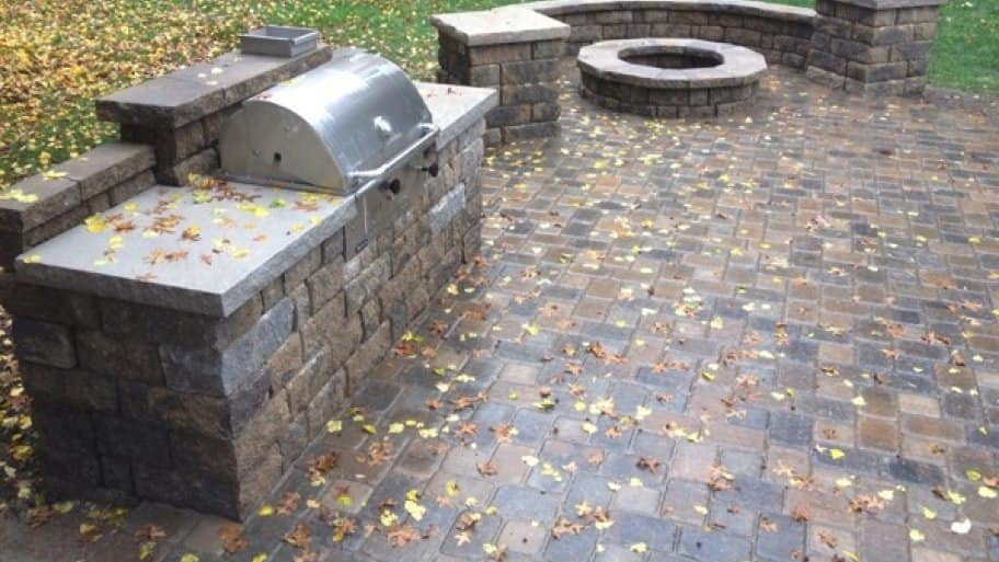 Smaller Patio Design Helps Pay For Fire Pit And Grill