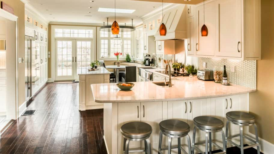 Genial Kitchen Remodel With Bar Stools