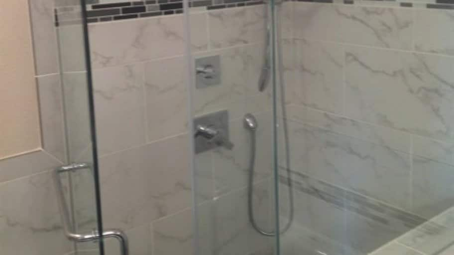 JBL Glass paid great attention to detail when installing a shower enclosure for Richard Burgess. (Photo courtesy of Richard Burgess)