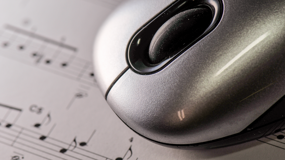 mouse over music sheet