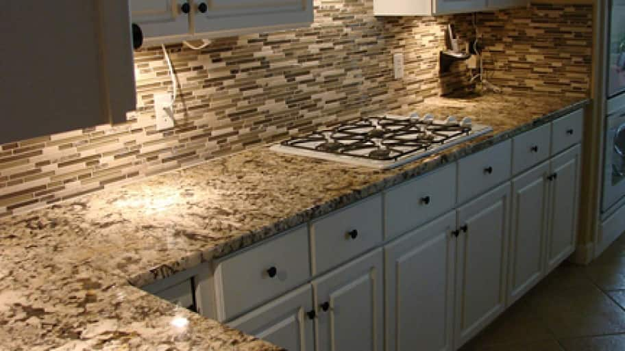 Angie's List member Lowell L. of McKinney, Texas, installed granite countertops during a major kitchen remodel in April 2013. (Photo courtesy of Lowell L.)