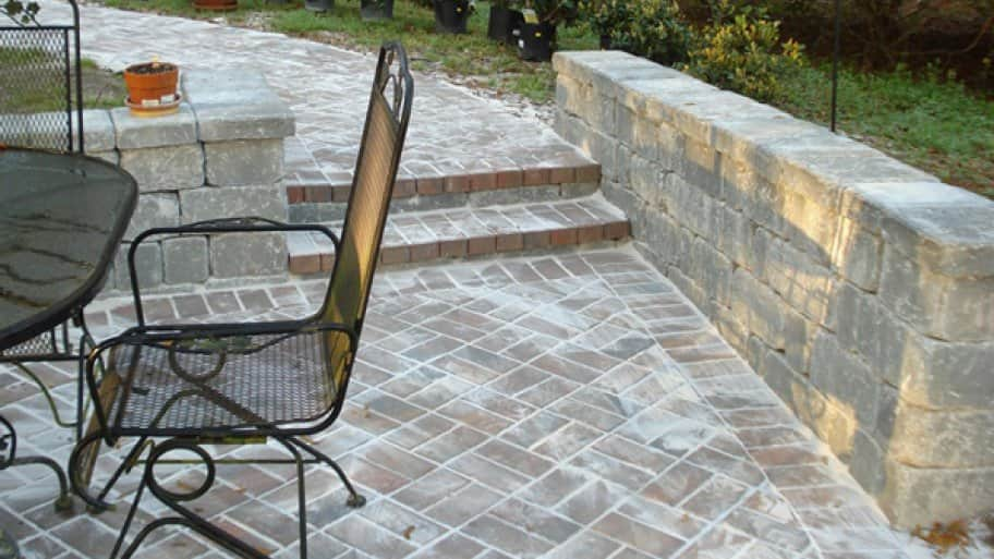 Get creative with your patio space by utilizing pavers to create the perfect outdoor entertaining surface, says Wood. (Photo courtesy of Angie's List member Mark S. of Jacksonville, Fla.)