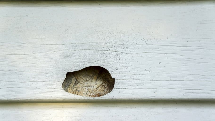 how do i repair a hole in vinyl siding