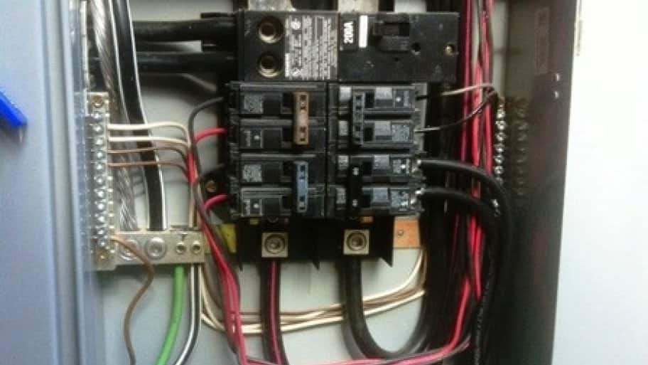 During an inspection, electricians make sure the amperage matches on all elements, including wires and the panel. [Photo courtesy of member Randy O. of Clayton, N.C.]