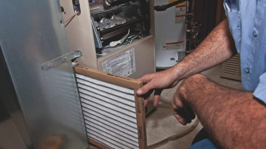 Changing your furnace filter per the manufacturer's guidelines will help ensure your furnace works when you need it. (Photo by Rick Miller)