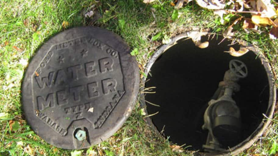 Your water meter and main shutoff may be in an underground pit near the edge of your property. (Angie's List photo by Mike Jesse)