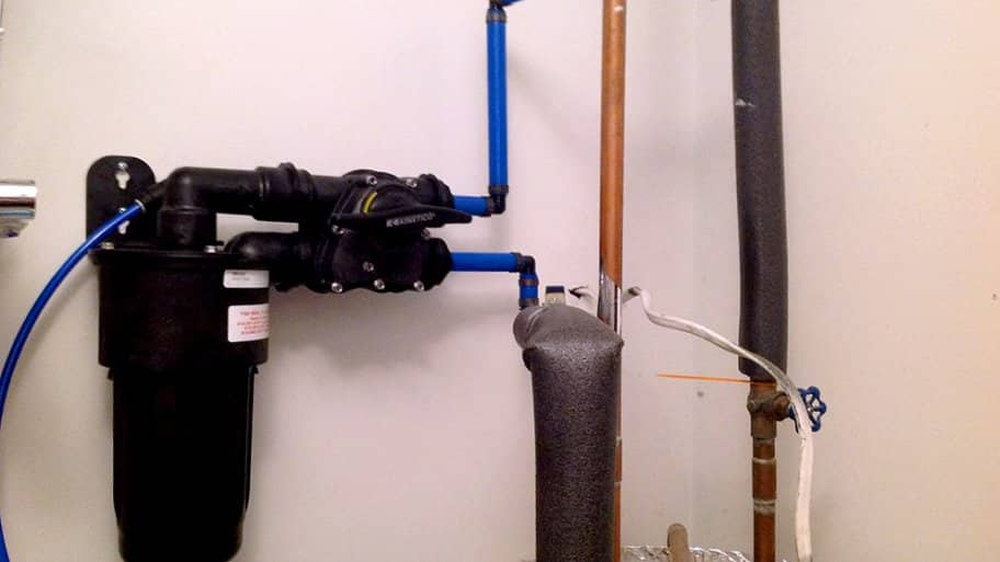 a well water pump system inside of a home