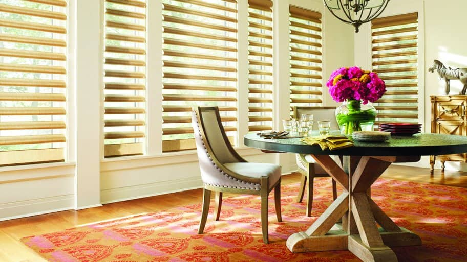 Window treatments can be fabricated to your exact window specifications (Photo by Photo by Decorview)