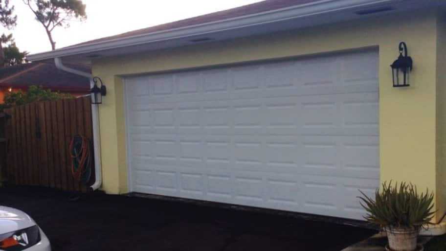 At Your Service Garage replaced Patricia Milian's 46-year-old garage door. (Photo courtesy of Angie's List member Patricia Milian of Lake Worth, Fla.)
