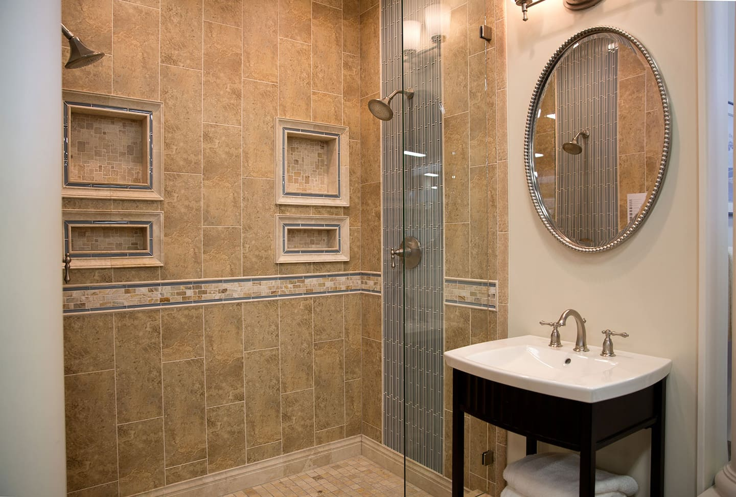 Bathroom tile trends for your remodel angies list shower with ceramic tile dailygadgetfo Gallery