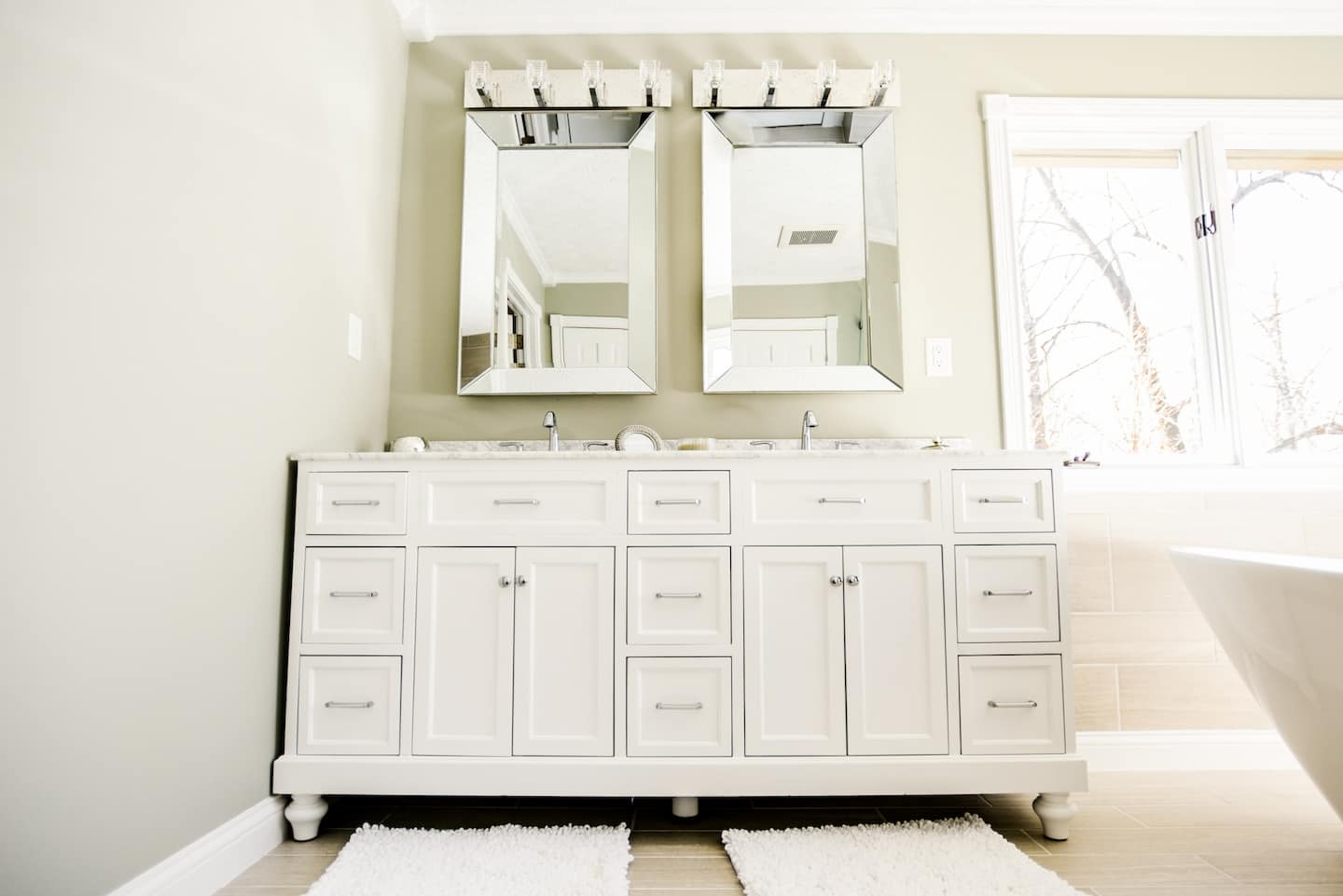 White Bathroom Sink Cabinets bathroom sink vanity and cabinet options | angie's list