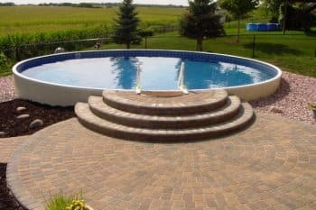Minnesota Family Enjoys New Paver Patio Pool And Firepit